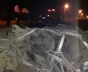 ۴کشته در تصادف شبانه جاده برازجان-بوشهر+عکس