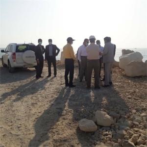 رضایتمندی استاندار بوشهر از روند پیشرفت پروژه طرح توسعه بندر کنگان